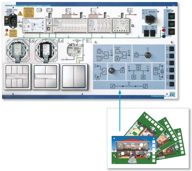knx installation bus system model 41 220 knx professional programming board tecotec group. Black Bedroom Furniture Sets. Home Design Ideas